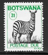 Botswana Scott # J9a MNH Zebra Postage Due, 1984 - Botswana (1966-...)