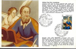 5.12.1978  -  Edit. Tony Krier,Luxembg - Evangile Selon Saint Mattieu - Cartes Maximum