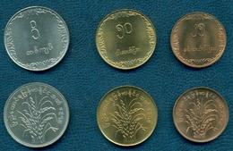 Burma, 1975 , Myanmar FAO, Set Of 3 Coins - Myanmar