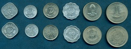 Pakistan, 1976-1977, Set Of 6 Coins - Pakistan