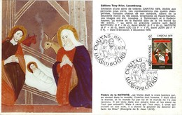 5.12.1978  -  Edit. Tony Krier,Luxembg -  Timbre De La Nativité - Cartes Maximum