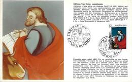 5.12.1978  -  Edit. Tony Krier,Luxembg - Evangile Selon Saint Luc - Cartes Maximum