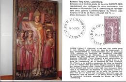 18.5.1978  -  Edit. Tony Krier,Luxembg -   Pierre D'Aspelt  (1250-1320 ) - Cartes Maximum