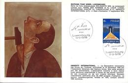 11.9.1978  -  Edit. Tony Krier,Luxembg  -   Amnesty Internationale - Cartes Maximum