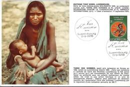 11.9.1978  -  Edit. Tony Krier,Luxembg  -   Terre Des Hommes - Cartes Maximum