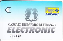 ITALY - Casa Di Risparmio Di Firenze(reverse De La Rue), Bancomat Debit Card, Used - Cartes De Crédit (expiration Min. 10 Ans)