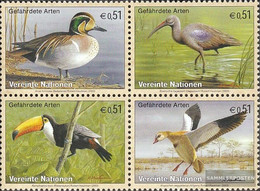 UN - Vienna 389-392 Block Of Four (complete Issue) Unmounted Mint / Never Hinged 2003 Birds - Vienna – International Centre