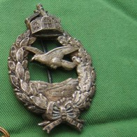 Rare Badge Commemoratif Argenté De Pilote De L'empire Allemand WW1 Datant De 1921/22 - Deutsches Reich