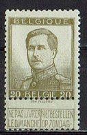 Belgien 1912 // Mi. 101 I * - 1912 Pellens