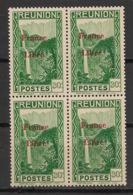 Réunion - 1943 - N°Yv. 227 - France Libre - Cascade 30c - Bloc De 4 - Neuf Luxe ** / MNH / Postfrisch - Réunion (1852-1975)