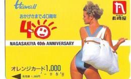 Télécarte Japon * EROTIQUE (6636) HAWAII  *  EROTIC PHONECARD JAPAN * TK * BATHCLOTHES * FEMME SEXY LADY LINGERIE - Fashion