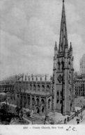 CPA   ETATS-UNIS---NEW YORK---TRINITY  CHURCH---1909 - Églises