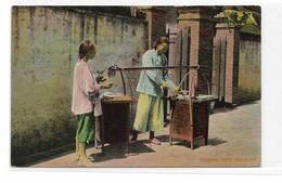 CARD CINA VENDITRICE AMBULANTE DI CIBO CON LEGNO DA PORTANTINA PER SPOSTAMENTO-FP-N-2-0882-29152 - Cina