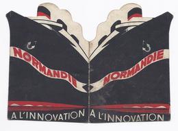 PUB NORMANDIE BATEAU A L'INNOVATION CHAUSSURE BRUXELLES IXELLES ANVERS GAND BRUGES OSTEND CHARLEROI LIEGE NAMUR VERVIERS - Publicités