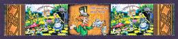 Bosnia And Herzegovina 2015, 150 Years Anniv. Alice In Wonderland, CHESS Flamingos Cat Rabbit Mushrooms, Middle Row MNH - Bosnia And Herzegovina