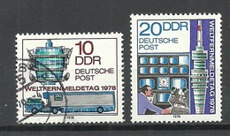 Germany DDR 1978 Michel 2316 - 2317 Weltfernmeldetag, O - [6] République Démocratique