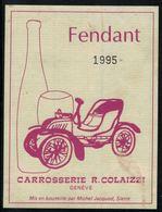 Etiquette De Vin // Fendant 1995, Carrosserie R.Colaizzi, Genève, Suisse - Voitures