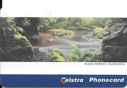 CARTE-PUCE-AUSTRALIE-10$-TELSTRA-TASMANIA RAIN FOREST-Exp 08/99-UTILISE -TBE - Australie