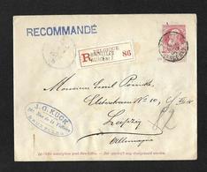 Env. 74 / Bruxelles Agence N°7 - 1905 Thick Beard