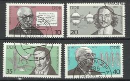 Germany DDR DDR 1977 Michel 2199-2202 Famous Germans O - [6] République Démocratique