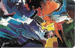 CARTE-PUCE-LUXEMBOURG-50U-SC08-SC7-1995-ART CONTEMPORAIN-5--V° N° Série-C5B154937-TBE - Luxembourg