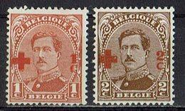 Belgien 1918 // Mi. 129,130 * - 1918 Rotes Kreuz