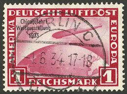 GERMANY: Sc.C43, 1933 Chicagofahrt 1Mk. Carmine Used In Berlin On 1/JUN/1934, VF! - Unclassified