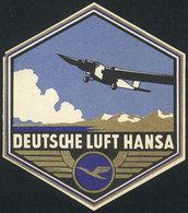 GERMANY: Circa 1934: Original Luggage Label Of Deutsche Lufthansa, Excellent Quality! - World
