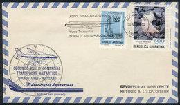 ANTARCTICA: 29/NOV/1980: Second Antarctic Transpolar Flight Buenos Aires-Auckland (New Zealand), Arrival Backstamp, VF Q - Stamps