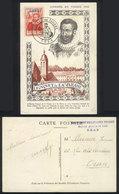 ALGERIA: Maximum Card Of 1946: Fouquet De La Varane, French Postmaster In 1598, VF Quality! - Algeria (1924-1962)