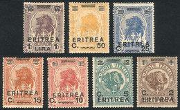 ERITREA: Sc.58/64, 1922 Animals, Cmpl. Set Of 7 Overprinted Values, VF Quality! - Eritrea