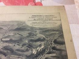 VUE PANORAMIQUE Du Bassin Minier De LONGWY Et ESCH. Format 65x15 Cm - Longwy