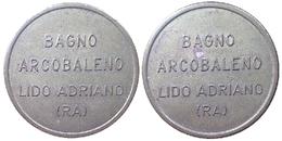 01221 GETTONE JETON TOKEN DOCCE WASHING DOCCIA BAGNO ARCOBALENO LIDO ADRIANO RAVENNA - Non Classificati
