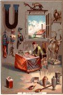 CHROMO HUIS L. VAN EECKHOVEN-DEKEPPER ANVERS  8 DESIGNATIONS  LETTRE U - Chromos