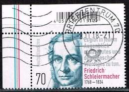 Bund 2018, Michel# 3419 O 250. Geburtstag Friedrich Schleiermacher - [7] République Fédérale