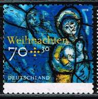 Bund 2018, Michel# 3422 O Weihnachten. Kirchenfenster, Selbstklebend - BRD