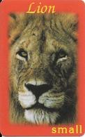 CARTE-PREPAYEE-ITALIE- LION-Plastic Epais--TBE-RARE - Jungle