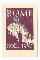 Santini Image Pieuse Holy Card ROME NOEL 1950 LA FEDERATION DES SCOUTS CATHOLIQUES - Images Religieuses