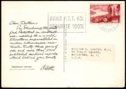 Dear Doctor Re Sodium Pentothal (Abbott) France To USA 1957 - Publicité