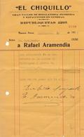 1937 COMMERCIAL DOCUMENT- EL CHIQUILLO, TALLER HOJALATERIA PLOMERIA  Y REFACCIONES, ARGENTINE - BLEUP - Autres