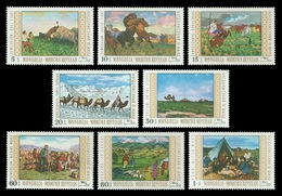 Mongolia 1969 Mih. 557/64 Paintings From National Museum Of Mongolia MNH ** - Mongolia