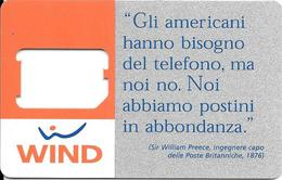 CARTE-GSM-ITALIE-WIND-SQUELETTE-TBE-RARE - Italie