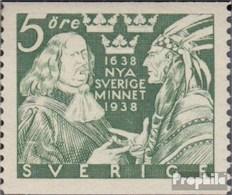 Suède 245A Neuf Avec Gomme Originale 1938 Auswanderer - Sweden