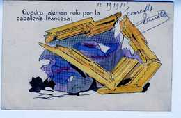 1915 CARTE POSTALE CUADRO ALEMAN ROTO POR LA CABALLERIA FRANCESA   TC118 - Guerra 1914-18