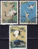 Kraniche 1962 China 640/2 O 10€ Gemälde Chen Chi-fo Kranich In Der Mandschurei Paintings Art Fauna WWF Set Of Chine - 1949 - ... People's Republic
