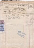 1913 COMMERCIAL DOCUMENT- LA MADRILEÑA, ELEGANTE TIENDA Y CANTINA. FISCAUX FISCALES - BLEUP - Autres