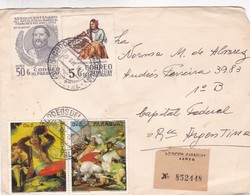 1973 COVER, CORREO PARAGUAY, CIRCULEE TO ARGENTINE, PAR AVION, MIXED STAMPS, TIMBRE A PAIR - BLEUP - Paraguay