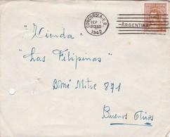 1942 COVER ARGENTINE CIRCULEE CONCORDIA, ENTRE RIOS, TO BUENOS AIRES - BLEUP - Argentine