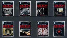 ILE DE MAN 2001: A Space Odyssey . Stanley Kubrick. Série De 8 Timbres. Cinéma, Film, Movie - Cinéma