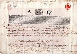 1638 AQ Lettera Venezia N 8513 4 Soldi / AQe / F Millo Dacio IIII / Repubblica // Venice Lettersheet / Letter Stationery - Italie